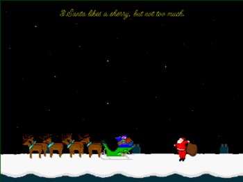 Spare A Thought For Santa Screen Saver