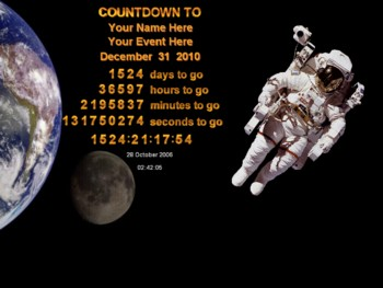 Space Countdown Screen Saver
