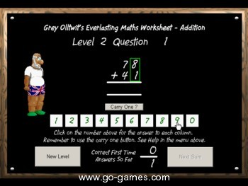 Addition - Everlasting maths worksheet software