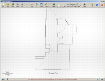 Plan maker make simple plans of houses rooms street maps etc Free easy floor plan maker