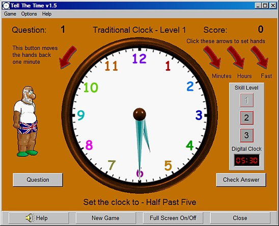 Tell The Time - learning software download
