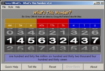 What's This Number - math software